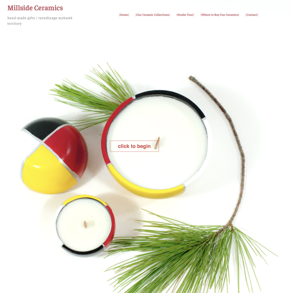 millside ceramics, marleen murphy, tyendinaga, graphic design, web design, pass the feather