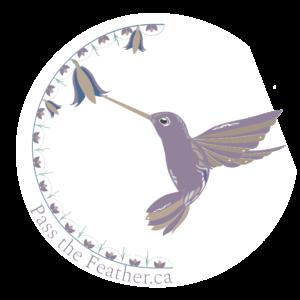 pass the feather, aboriginal arts collective of canada logo
