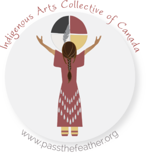pass the feather, aboriginal arts collective of canada logo
