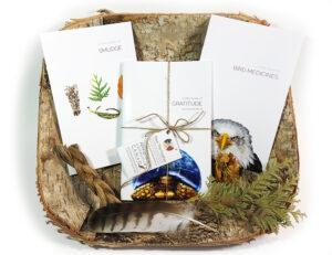 book set, little books, smudge, bird medicines, feathers, good mind, gratitude, pass the feather